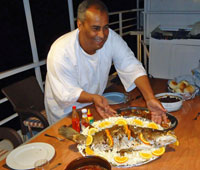 OsamaIn charge of catering and a brilliant chef